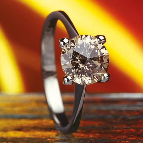 Prsten - diamant cognac