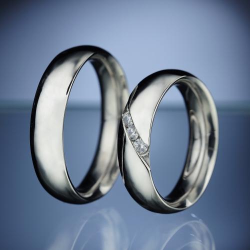 Platinové snubní prsteny vzor č. SN4
