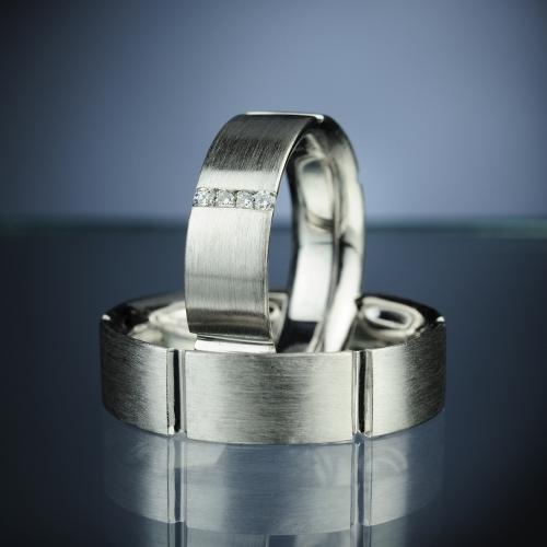 Platinové snubní prsteny vzor č. SN6