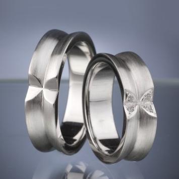 Snubní prsteny s diamanty vzor č. SN30