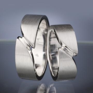 Platinové snubní prsteny vzor č. SN31