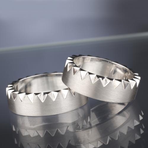 Platinové snubní prsteny vzor č. SN35