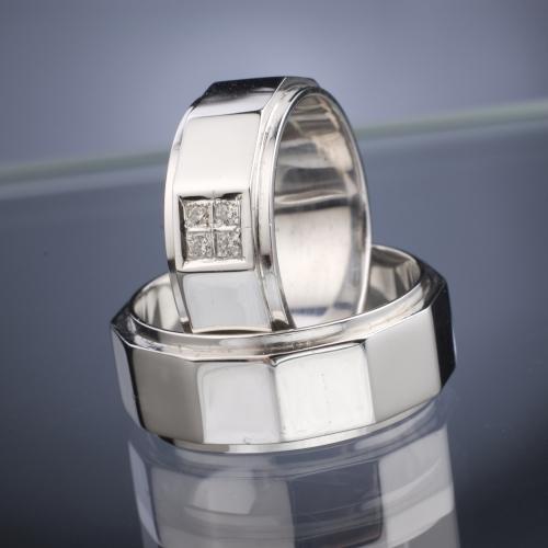 Platinové snubní prsteny vzor č. SN40