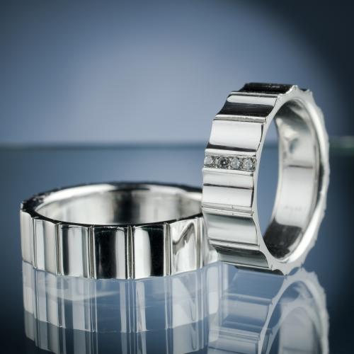 Platinové snubní prsteny vzor č. SN66