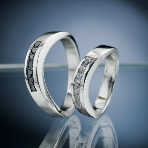 Snubní prsteny s diamanty vzor č. SN67