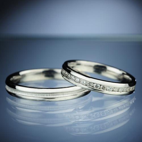 Snubní prsteny s diamanty vzor č. SN70