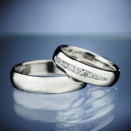 Snubní prsteny s diamanty vzor č. SN71