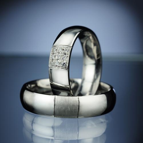 Platinové snubní prsteny vzor č. SN72