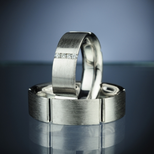 Snubní prsteny s diamanty vzor č. SN6