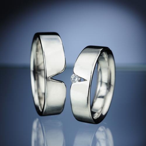 Snubní prsteny s diamantem vzor č. SN11