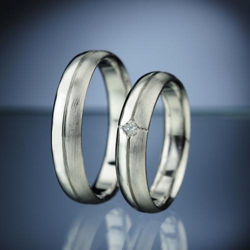 Snubní prsteny s diamantem vzor č. SN14