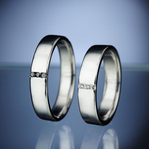 Snubní prsteny s diamanty vzor č. SN21