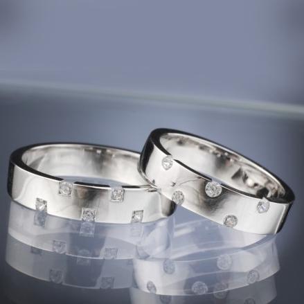 Snubní prsteny s diamanty vzor č. SN29