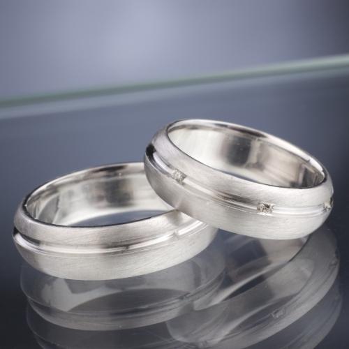 Snubní prsteny s diamanty vzor č. SN33
