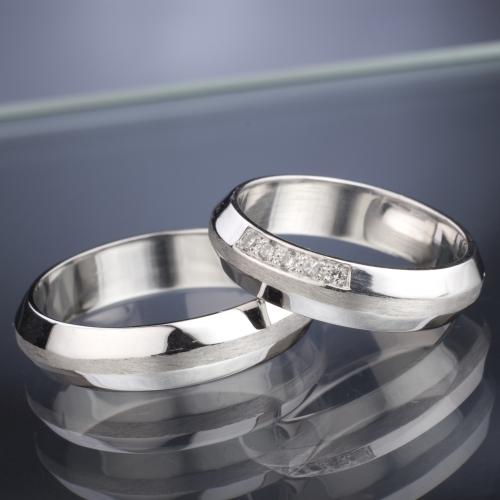 Snubní prsteny s diamanty vzor č. SN34