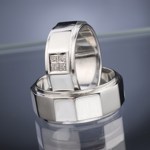 Snubní prsteny s diamanty vzor č. SN40