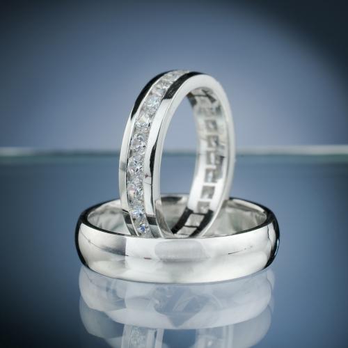 Snubní prsteny s diamanty vzor č. SN64