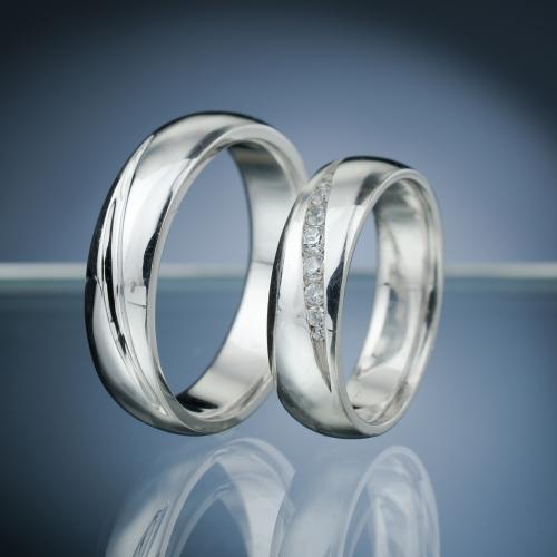 Snubní prsteny s diamanty vzor č. SN69
