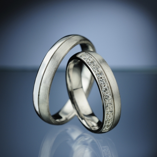 Snubní prsteny s diamanty vzor č. SN75