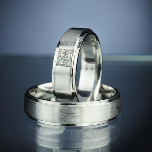 Snubní prsteny s diamanty vzor č. SN77