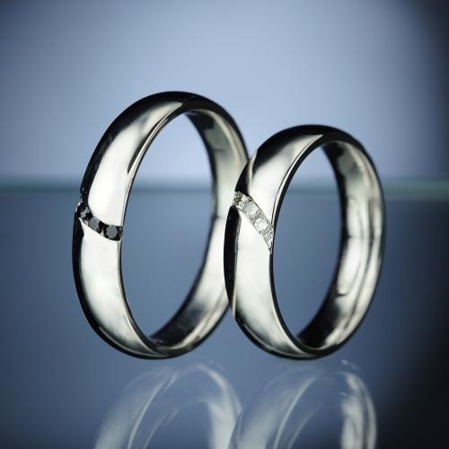 Snubní prsteny s diamanty vzor č. SN81