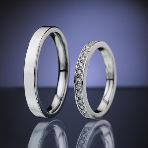 Snubní prsteny s diamanty vzor č. SN82
