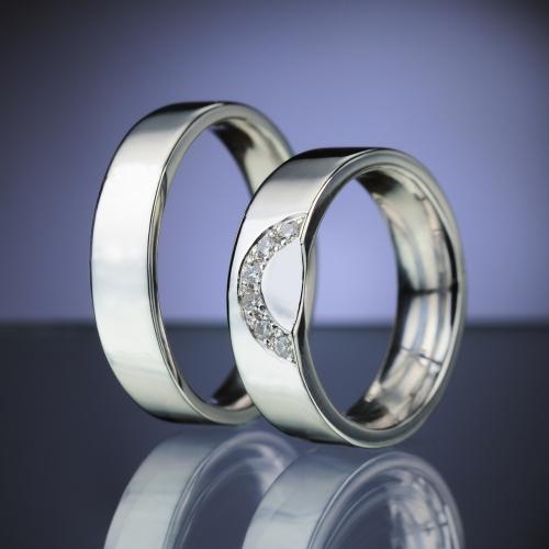 Snubní prsteny s diamanty vzor č. SN86