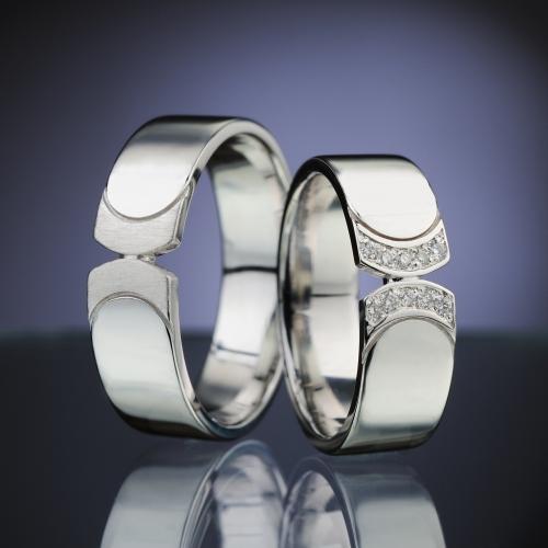 Snubní prsteny s diamanty vzor č. SN87