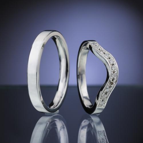 Snubní prsteny s diamanty vzor č. SN88