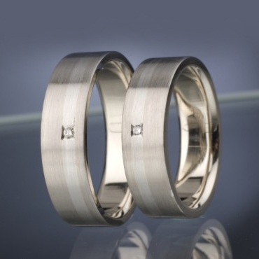 Snubní prsteny s diamanty vzor č. SN16