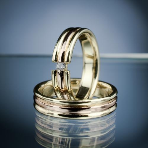 Snubní prsteny s diamantem vzor č. SN49