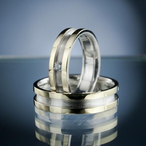 Snubní prsteny s diamantem vzor č. SN51