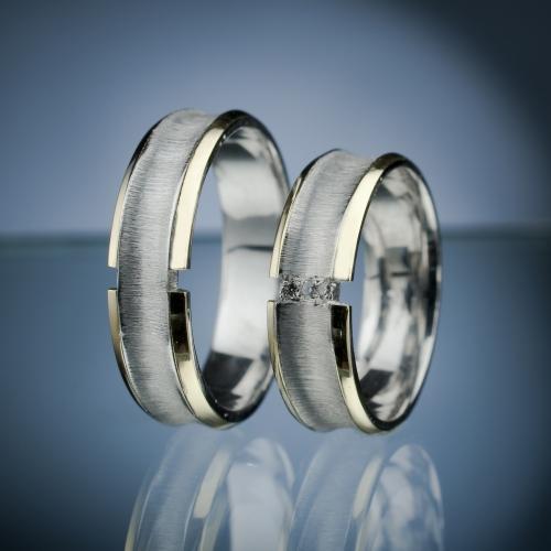 Snubní prsteny s diamanty vzor č. SN52