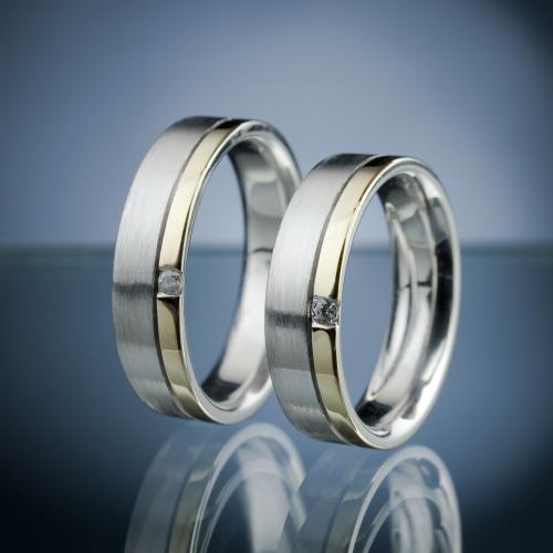 Snubní prsteny s diamanty vzor č. SN53