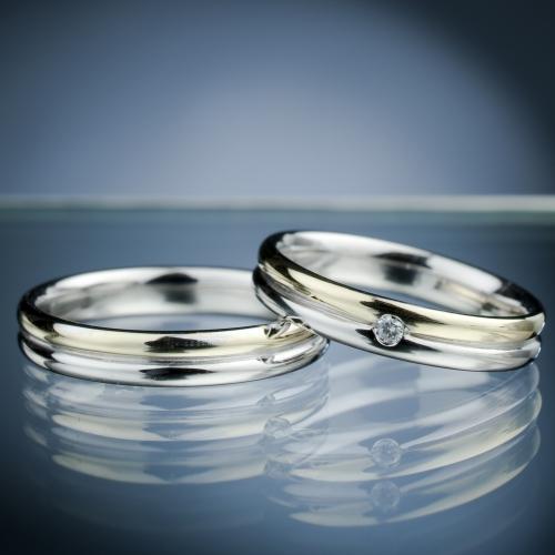 Snubní prsteny s diamantem vzor č. SN54
