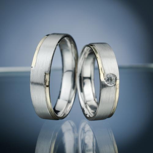Snubní prsteny s diamantem vzor č. SN55