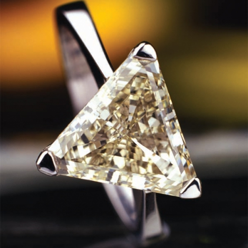 Prsten diamant champagne