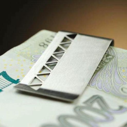 Spona na peníze - ornamenty