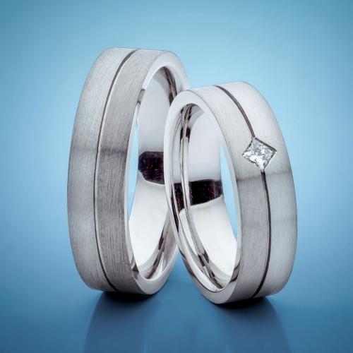 Snubní prsteny s platinou vzor č. SN27
