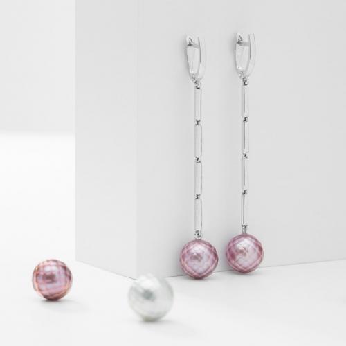 Náušnice visací s perlou