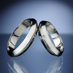 Snubní prsteny s diamantem vzor č. SN9