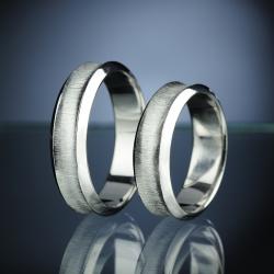 Platinové snubní prsteny vzor č. SN10