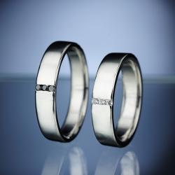 Platinové snubní prsteny vzor č. SN21