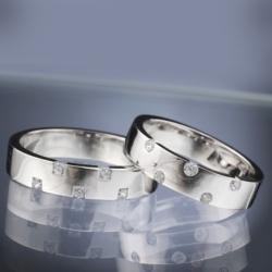 Platinové snubní prsteny vzor č. SN29