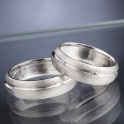 Platinové snubní prsteny vzor č. SN33
