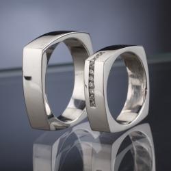 Platinové snubní prsteny vzor č. SN37