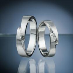 Snubní prsteny s diamantem vzor č. SN61