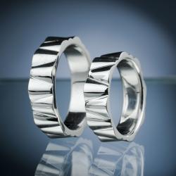 Platinové snubní prsteny vzor č. SN65