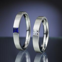Platinové snubní prsteny vzor č. SN79