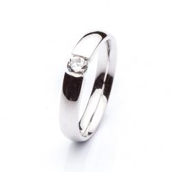 Platinový prsten s diamantem vzor č. 0102